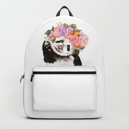 Baby Panda with Flowers Crown Backpack