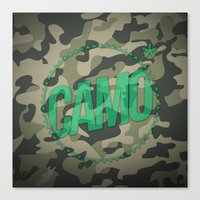 camo Canvas Prints featuring Camo by GabrieleCigna