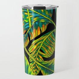 Banana Leaf Belize on Silk Travel Mug