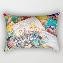 Little Vintage Library Rectangular Pillow
