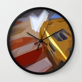 St. Maarten Color Block Building Wall Clock