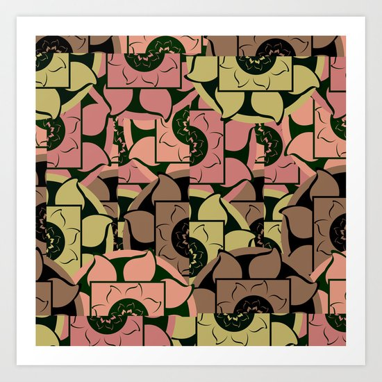 Floral pieces Art Print