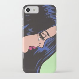 Pop Art Sad Girl iPhone Case