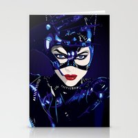 catwoman Stationery Cards featuring Catwoman  by Jordi Hayman Design
