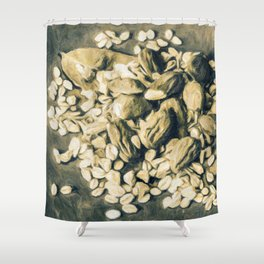 Contrast the thoughts Shower Curtain