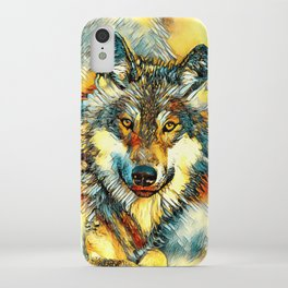 AnimalArt_Wolf_20170601_by_JAMColorsSpecial iPhone Case