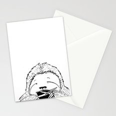 Hungry Sloth Stationery Cards