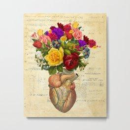 Heart Full of Flowers Metal Print