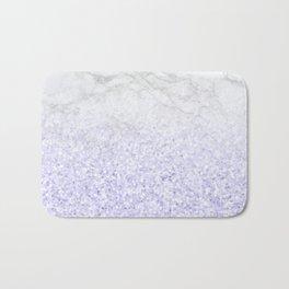 She Sparkles - Pastel Purple Glitter Marble Bath Mat