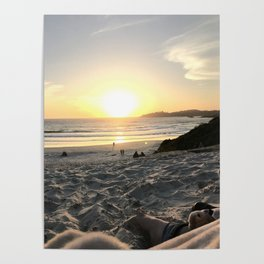 One Red Boot on the Beach Poster