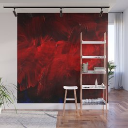 Red And Black Luxury Abstract Gothic Glam Chic by Corbin Henry Wall Mural