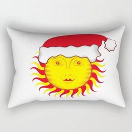 Sun: Merry Christmas Rectangular Pillow