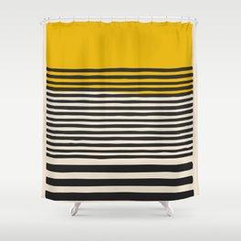 Mid Century Modern Art Print, Abstract Rainbow Arch wall art, Geometric Arch Print, yellow wall art, Shower Curtain