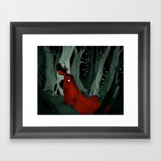 Snow White Lost in the Woods Framed Art Print