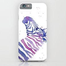 Zebra Watercolor Purple Stripes Animal iPhone 6s Slim Case