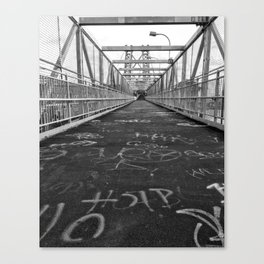 Williamsburg Bridge Stroll Canvas Print