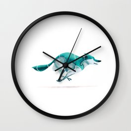 Wolf 4 Wall Clock