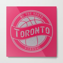 Toronto basketball red vintage logo Metal Print