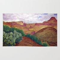 arizona Area & Throw Rugs featuring Arizona by Tom Gregory Artwork