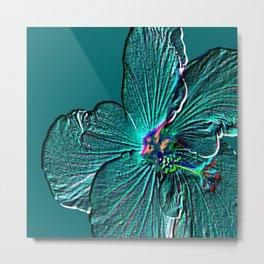Bloom Teal Metal Print