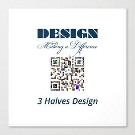3 Halves Design Canvas Print