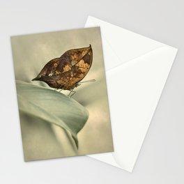 Orange oakleaf butterfly Stationery Cards