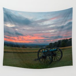 Gettysburg Cannon Sunset Wall Tapestry