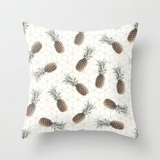 Raining Pineapples Throw Pillow