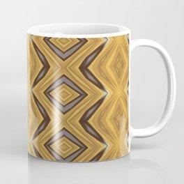 Yellow , Ochre and Brown Diamond Pattern Coffee Mug