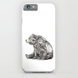 Bear // Graphite iPhone Case