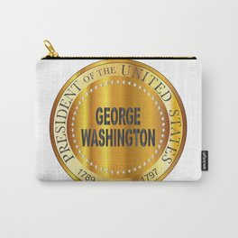 George Washington Gold Metal Stamp Carry-All Pouch