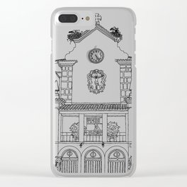 Storks on the Roof - Line Art Clear iPhone Case