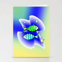astrology Stationery Cards featuring Astrology, fish by Karl-Heinz Lüpke