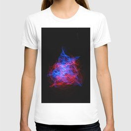 Abstract lines in the shape of a nebula T-shirt