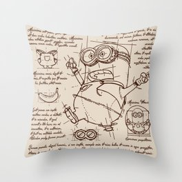 Minion Plan Throw Pillow