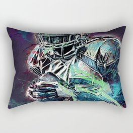 Football Player Rectangular Pillow
