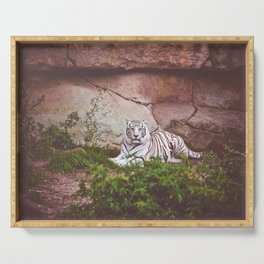 White Bengal Tiger Serving Tray