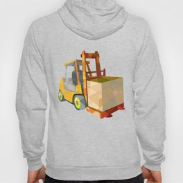 Forklift Truck Materials Handling Box Low Polygon Hoody