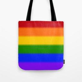 Rainbow Gay Pride Flag Tote Bag