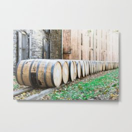 Bourbon Barrel Metal Print
