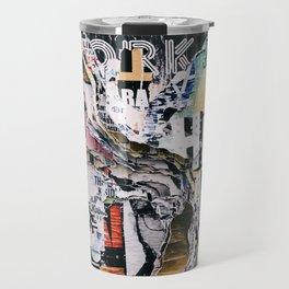 Torn mexican posters wall Travel Mug