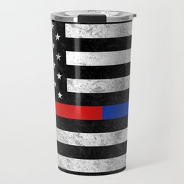 Fire Police Flag Travel Mug