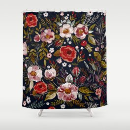 Vintage & Shabby Chic - Country Floral Shower Curtain