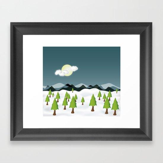 Midnight Isolation Framed Art Print