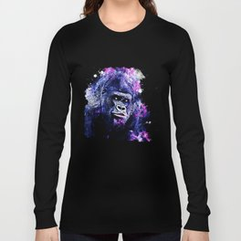 gorilla monkey face expression wscb Long Sleeve T-shirt