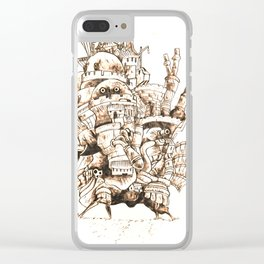 Howl's Moving Castle - Pyrography Clear iPhone Case
