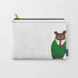 Owl in suit Carry-All Pouch
