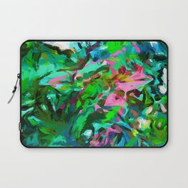Leaves Buds Green Pink Laptop Sleeve