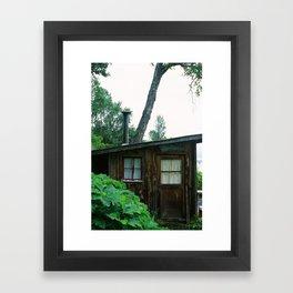 Sea Shell Cabin - Homer, AK Framed Art Print