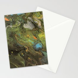 Acrylic Paint Pour (Dirty Pour) 1 Stationery Cards